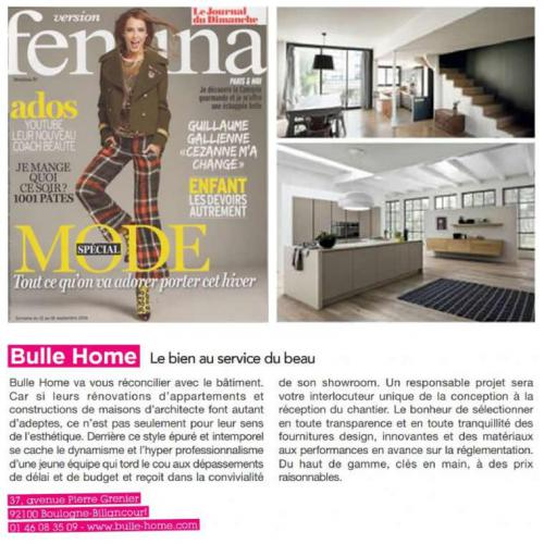 Bulle Home dans Version Femina (JDD) n°754 sept 2016